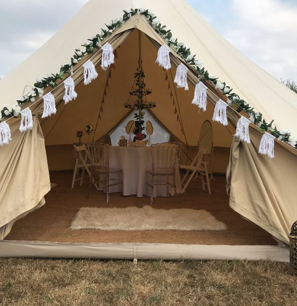 Enchanted-Bell-Tents-get-ready-tent